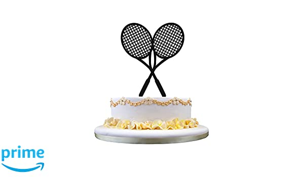 Amazon.com: Tennis Rackets Birthday Cake Topper - Tennis Racquet Cake Topper: Kitchen & Dining