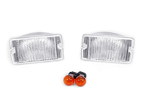 DEPO 1997-2006 Jeep Wrangler TJ Clear Front Bumper Signal Lights. ()