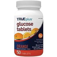 TRUEplus Glucose Tablets, Orange - 50ct