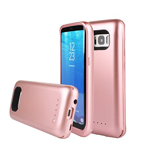 Bren SL Portable 5000mAh External Backup Charger Case for Samsung Galaxy S8 Rose Gold