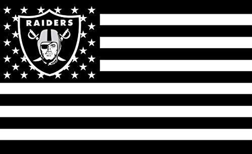 - GF-sports store Championship Flag - NFL Flag Sewn 3x5 Foot Brass Grommets Brightly Colored Team Graphic - Canvas Header and Double Stitched (Oakland Raiders)