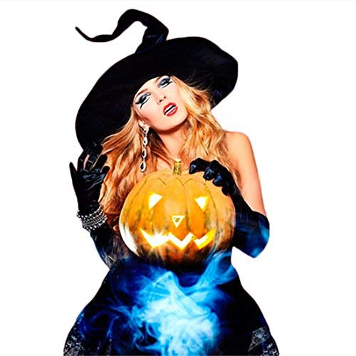 Lulutus Halloween Witch Party Cosplay Large Black Witch Hat for Women Costume Accessory by Lulutus