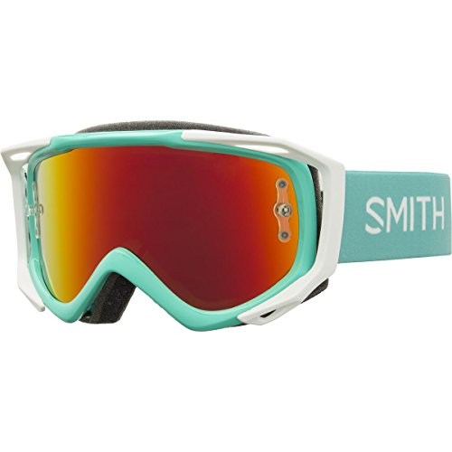 Smith Fuel V.2 Sweat-X M Goggles Opal/Red Mirror-Clear, One Size (Smith Goggles Fuel Goggle)