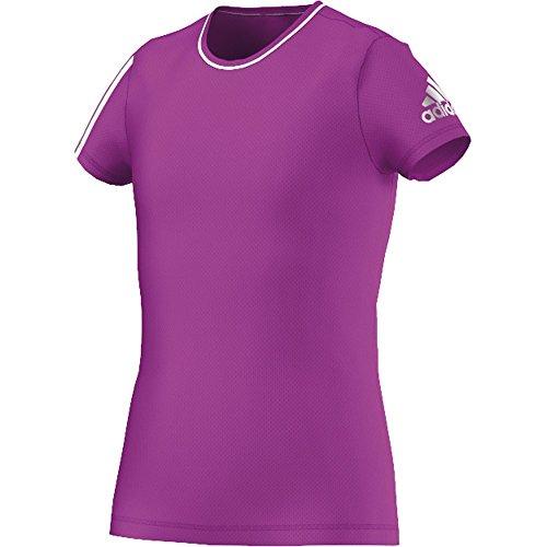 adidas Mädchen Training Clima T-Shirt, Shock Purple/Unity Ink, 164