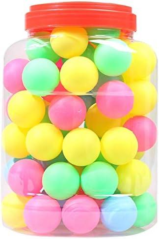 Decoration BIGTREE Lot de 100 Balles de Tennis de Table Boules Balles de ping Pong 40mm Ideal pour Les Jeux Jouets de Vos Animaux