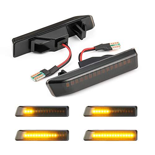 2Pcs Sequential Dynamic Smoked Side Marker Light Turn Signal Blinker Fender Light for BMW (3er E36 X5 E53)