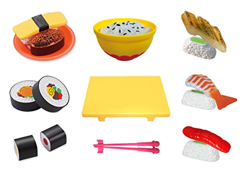 Wood Sushi (Liberty Imports Pretend Play Cooking Cutting Foods Set | Kitchen Fun Cuttable Food Toys | Early Development Educational Gift for 2, 3, 4, 5, 6 Year Old Kids, Boys, Girls (Sushi))