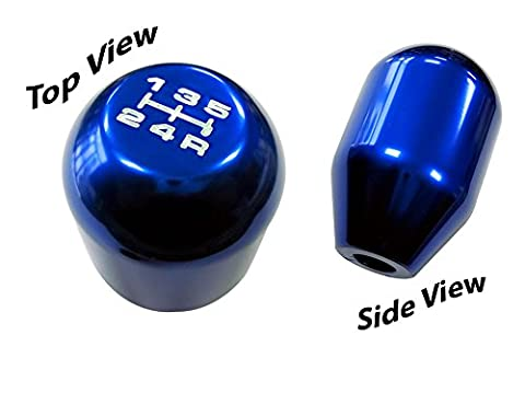 12x1.25mm Threaded 5 Speed TYPE R Type S Shift knob in BLUE Billet Aluminum (No Adapters – Threaded) m12x1.25 JDM Short Throw Manual Transmission Gear Shifter Selector for Subaru Impreza WRX STI RS Forester Legacy Outback Wagon Sedan Sport Premium Limited Touring I ST-i GT Spec - Impreza Sport Wagon