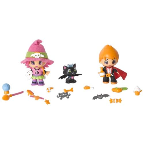 Famosa Pinypon 700009686 Pack brujas - 2 muñecos Pinypon y 1 animal