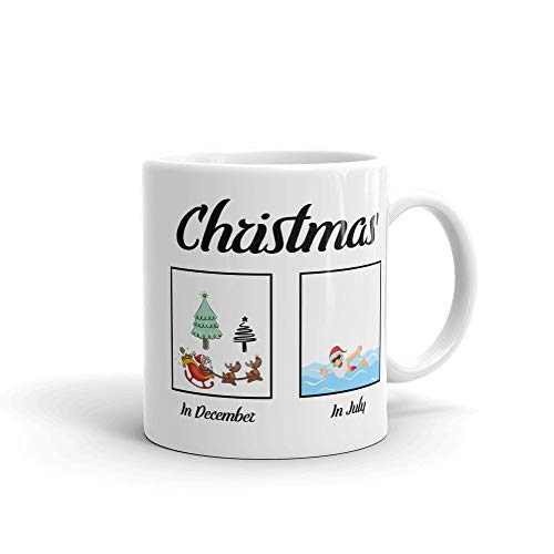 Christmas In July 2018 Mug Coffee Tea Cup Funny Summer Mug Coffee Tea Cup Gift for Christmas in July Celebration Party Yulefest Yuletide In Australia (In Australia July In Christmas)