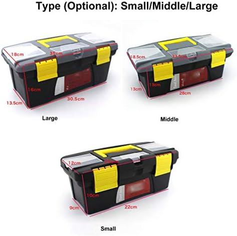 Portable S/M/L Size Plastic Hardware Toolbox Household Multifunction Maintenance Toolbox Car Storage Box Anti-Fall Box,S