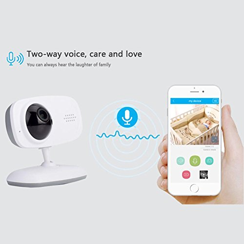 Wireless WiFi Camera 720P Insert Card Camera IR Night Vison Two Way Audio Motion Detection Remote Monitor Home Security Webcam by UEB (Image #5)