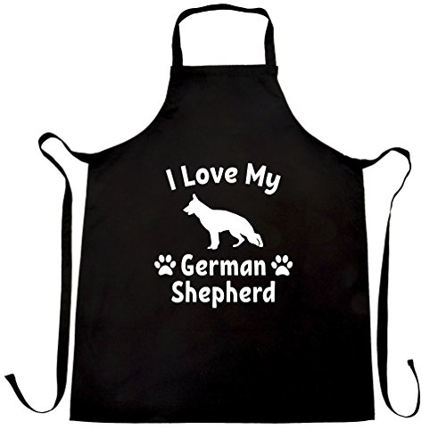 I Love My German Shepherd Dog Lover Cute Adorable Apron (Adorable Apron)