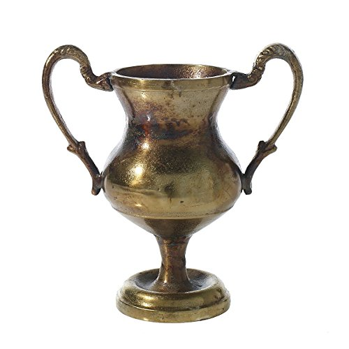 Compote with Handles, Decorative Urn, Aged Champion Cup, Urn, 10.25 inch X11 Inches X 5.5 Inches, Aged Bronze