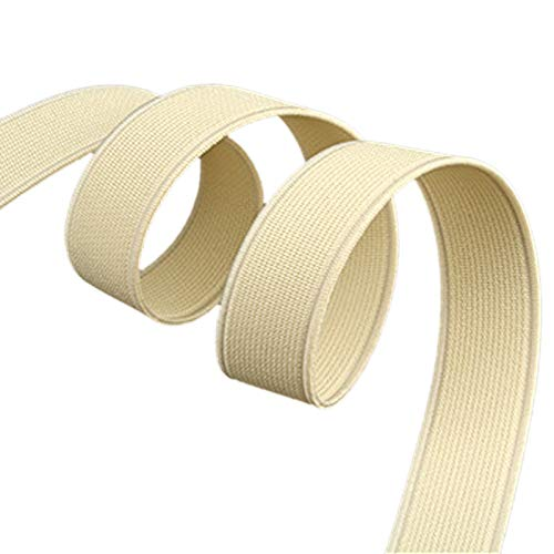 - Yzsfirm 1 Inch High Elastic Band,30 Yards Elastic Spool Knit Bands Beige Braided Band for Sewing and Hair Wigs with Heavy Stretch