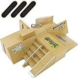 HEHALI 8pcs Professional Skate Park Kit Ramp Tech Deck for Mini Fingerboards Finger Skateboard