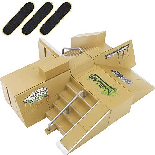 onal Skate Park Kit Ramp for Mini Fingerboards Finger Skateboard ()