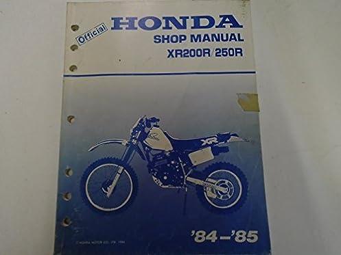 xr250r manual