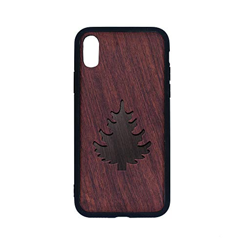 Pine Tree Silhouette - iPhone Xs CASE - Rosewood Premium Slim & Lightweight Traveler Wooden Protective Phone CASE - Unique, Stylish & ECO-Friendly - Designed for iPhone Xs