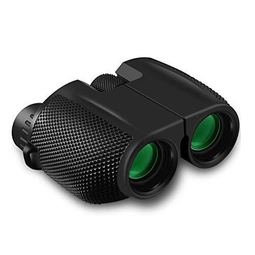 (Lis-shan 12X25 Compact Binoculars with Low Light Night Vision, Large Eyepiece High Power Waterproof Binocular Easy Focus for Outdoor Hunting, Bird Watching, Traveling)