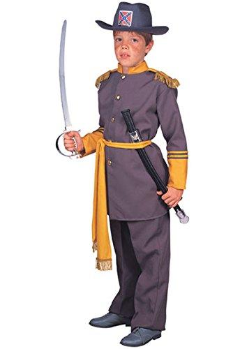 Mememall Fashion Civil War Military General Robert E. Lee Deluxe Child Costume (Child Blue Ranger Muscle Costume)
