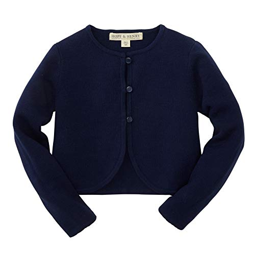Hope & Henry Girls Navy Cropped Cardigan