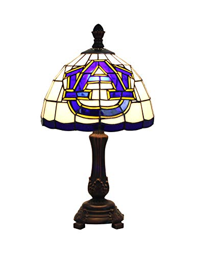 (Yogoart 9-inch NCAA Auburn Tigers Stained Glass Table Lamp 16-inch Total Height)