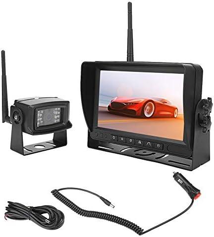 Gorgeriワイヤレスリバースカメラキット、7in TFT防水720P HDナイトビジョンABSリアビューバックアップカメラワイヤレスカメラ