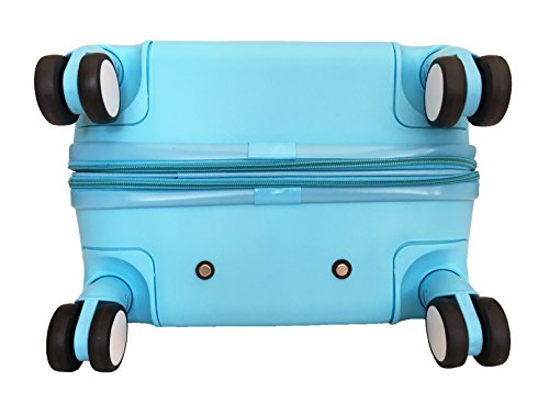 3 Pc Luggage Set Hardside Rolling 4wheel Spinner Upright Carryon Travel Sky Blue by Trendyflyer Collection (Image #4)