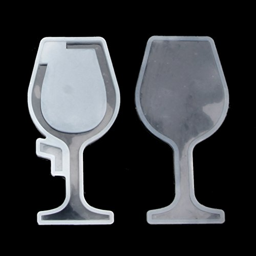Cherry Flower Hourglass Wine Glass Silicone Mould Resin DIY Jewelry Making Tools