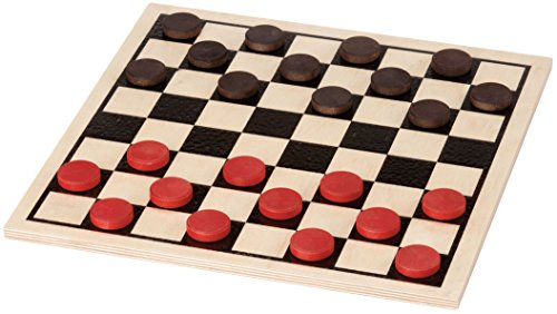 checkers board game wooden - 6