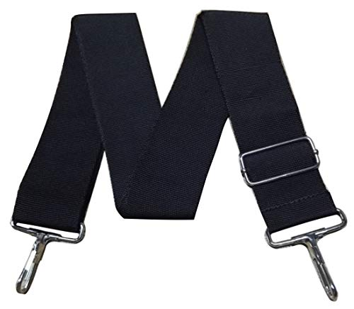 Jieming Universal Replacement Nylon Black Shoulder Strap Adjustable Luggage Straps Bag Belt
