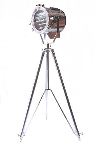 nautical spot light steel searchlight studio floor lamp tripod chrome  u0026 silver finish