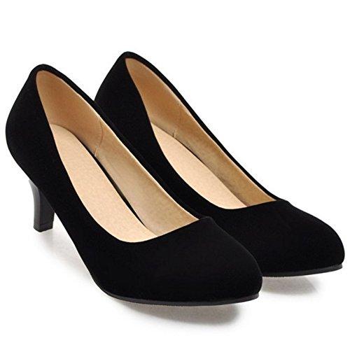 Coolcept Black Zapatos Cerrado 6CM Bombas Mujer rvqZTwBr