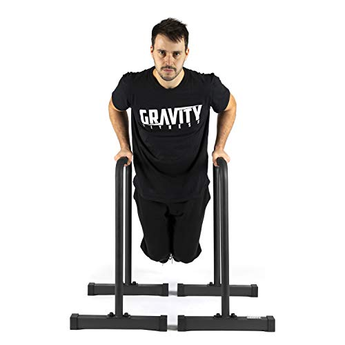 Gravity Fitness XL Pro Parallettes 2.0 - New 38mm Handles - Dip Bars - for Calisthenics, Home & Commercial use