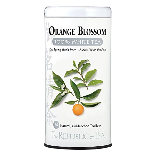 The Republic Of Tea Orange Blossom White Tea, 50 Tea Bags, Authentic 100% White Tea, Fresh Citrus Blend