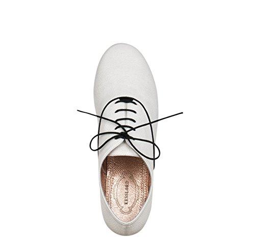 Maria Jets Vachette Bl Derbies en Kesslord NC Cuir de amp; grainée Richelieus Chaussures Blanc dYBnnFw6q