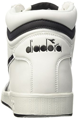 Bianco a Bianco Collo Uomo P Alto Game Diadora Sneaker High Nero 1zAxOqw
