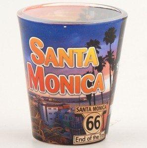 Santa Monica Collage Full Wrap Shotglass 4 Pack 5 7//18 4 Shot Glasses