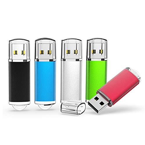 USB Flash Drive 32GB 5 Pack,ALMEMO USB Drive 2.0 High Speed USB Thumb Drive Memory Stick Jump Drive Zip Drives Pen Drive