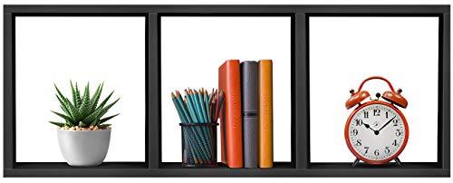 Sorbus 3-Shelf Cube Storage Organizer, Stackable Organizer Furniture for Books, Toys, Closet, Living Room, Bathroom, Bedroom, etc (Cube 3-Shelf - Black)