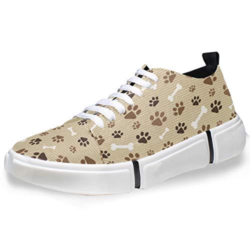 MONTOJ Animals Dog Cat Paw Prints Men's Fashion Personality Sneakers