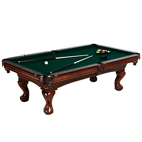 Barrington Hawthorne 100' Billiard Table Set with Cues, Rack, Balls, Brush, and Chalk (23 Pieces)