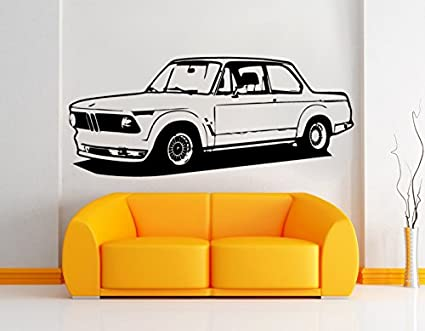 Pared Adhesivo BMW 2002 Turbo E20, vinilo, negro, XL
