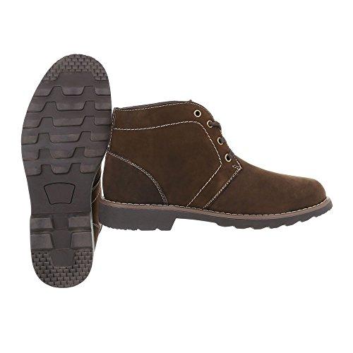 Schuhcity24 Herren Schuhe Boots Leder Schnürer Braun