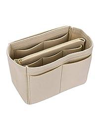 Xianheng Felt Insert Bags Handbag Pouch Purse Organizer Multi Pockets Bag in Bag (2# Beige, M)