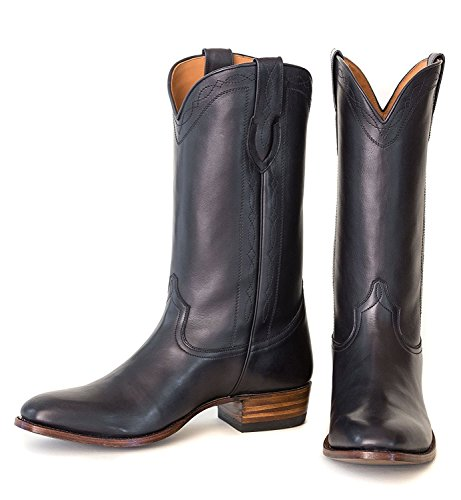 Ranch Road Boots Men's Capistrano Cowboy Boot with Walking Heel US 10.5 Black 1.5' Platform Boots