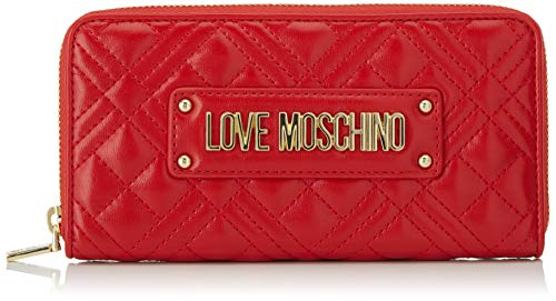 LOVE Moschino Quilted Checkbook Wallet, Red