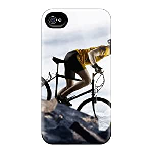 New Style Case Cover XGTEyPj4280AzduQ Bicyclist Sport Compatible With Iphone 4/4s Protection Case