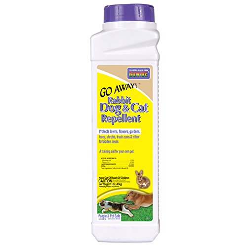 Repellent Cat Outdoor (Bonide 870 1-Pound Go Away Rabbit, Dog and Cat Repellent)